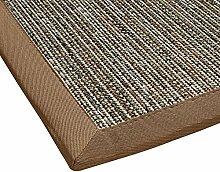 BODENMEISTER Sisal-Optik In- und Outdoor-Teppich Flachgewebe modern hochwertige Bordüre, verschiedene Farben und Größen, Variante: braun beige natur, 200x290
