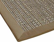 BODENMEISTER Sisal-Optik In- und Outdoor-Teppich Flachgewebe modern hochwertige Bordüre, verschiedene Farben und Größen, Variante: beige braun natur, 160x230
