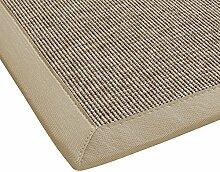 BODENMEISTER Sisal-Optik In- und Outdoor-Teppich Flachgewebe modern hochwertige Bordüre, verschiedene Farben und Größen, Variante: beige braun natur, 133x190
