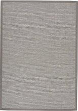 BODENMEISTER Sisal-Optik In- und Outdoor-Teppich Flachgewebe modern hochwertige Bordüre, verschiedene Farben und Größen, Variante: grau beige natur, 240x340