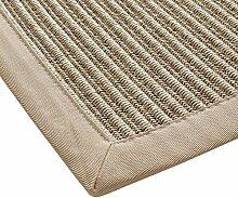 BODENMEISTER Sisal-Optik In- und Outdoor-Teppich Flachgewebe modern hochwertige Bordüre, verschiedene Farben und Größen, Variante: beige natur, 120x170