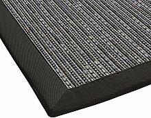 BODENMEISTER Sisal-Optik In- und Outdoor-Teppich Flachgewebe modern hochwertige Bordüre, verschiedene Farben und Größen, Variante: anthrazit grau, 67x133
