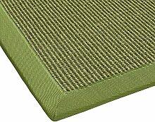 BODENMEISTER Sisal-Teppich modern hochwertige Bordüre Flachgewebe, verschiedene Farben und Größen, Variante: grün, 240x340