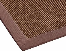 BODENMEISTER Sisal-Teppich modern hochwertige Bordüre Flachgewebe, verschiedene Farben und Größen, Variante: orange terra, 60x110