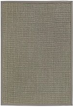 BODENMEISTER Sisal-Teppich modern hochwertige Bordüre Flachgewebe, verschiedene Farben und Größen, Variante: hell-grau, 200x290