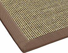 BODENMEISTER Sisal-Teppich modern hochwertige Bordüre Flachgewebe, verschiedene Farben und Größen, Variante: braun beige natur, 67x133