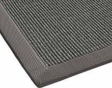 BODENMEISTER Sisal-Teppich modern hochwertige Bordüre Flachgewebe, verschiedene Farben und Größen, Variante: hell-grau, 160x230