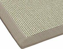 BODENMEISTER Sisal-Teppich modern hochwertige Bordüre Flachgewebe, verschiedene Farben und Größen, Variante: beige natur weiss, 67x133
