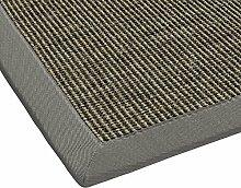 BODENMEISTER Sisal-Teppich modern hochwertige Bordüre Flachgewebe, verschiedene Farben und Größen, Variante: braun natur, 240x340