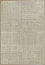BODENMEISTER Sisal-Teppich modern hochwertige Bordüre Flachgewebe, verschiedene Farben und Größen, Variante: beige natur, 67x133