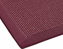 BODENMEISTER Sisal-Teppich modern hochwertige Bordüre Flachgewebe, verschiedene Farben und Größen, Variante: rot, 240x340