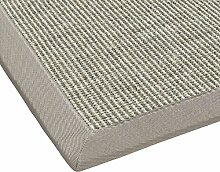 BODENMEISTER Sisal-Teppich modern hochwertige Bordüre Flachgewebe, verschiedene Farben und Größen, Variante: beige hell-grau, 80x250