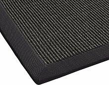 BODENMEISTER Sisal-Teppich modern hochwertige Bordüre Flachgewebe, verschiedene Farben und Größen, Variante: grau anthrazit, 133x190