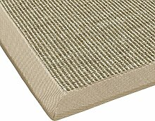 BODENMEISTER Sisal-Teppich modern hochwertige Bordüre Flachgewebe, verschiedene Farben und Größen, Variante: beige braun natur, 200x290