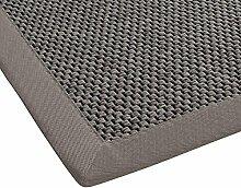 BODENMEISTER Teppich Sisal-Optik Flachgewebe modern hochwertige Bordüre, verschiedene Farben und Größen, Variante: hell-grau, 240x340