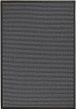 BODENMEISTER Teppich Sisal-Optik Flachgewebe modern hochwertige Bordüre, verschiedene Farben und Größen, Variante: hell-grau anthrazit, 80x150
