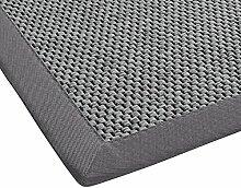 BODENMEISTER Teppich Sisal-Optik Flachgewebe modern hochwertige Bordüre, verschiedene Farben und Größen, Variante: hell-grau, 80x250