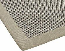 BODENMEISTER Teppich Sisal-Optik Flachgewebe modern hochwertige Bordüre, verschiedene Farben und Größen, Variante: natur, 80x250