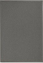 BODENMEISTER Teppich Sisal-Optik Flachgewebe modern hochwertige Bordüre, verschiedene Farben und Größen, Variante: anthrazit dunkel-grau, 120x170
