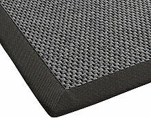 BODENMEISTER Teppich Sisal-Optik Flachgewebe modern hochwertige Bordüre, verschiedene Farben und Größen, Variante: anthrazit dunkel-grau, 160x230