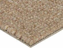 BODENMEISTER Teppichboden Auslegware Meterware Schlinge Beige 400 cm und 500 cm Breit, verschiedene Längen, Variante:, 1 Stück, 3,5 x 5 M, BM72051_beige_350x500