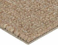 BODENMEISTER Teppichboden Auslegware Meterware Schlinge Beige 400 cm und 500 cm Breit, verschiedene Längen, Variante:, 1 Stück, 6,5 x 4 M, BM72051_beige_650x400