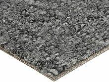 BODENMEISTER Teppichboden Auslegware Meterware Schlinge Grau 400 cm und 500 cm Breit, verschiedene Längen, Variante: 2 x 4 M, 1 Stück, 200x400, 7205141BM002_200x400