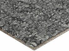 BODENMEISTER Teppichboden Auslegware Meterware Schlinge Grau 400 cm und 500 cm Breit, verschiedene Längen, Variante: 2 x 5 M, 1 Stück, 200x500, 7205151BM002_200x500
