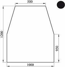Bodenplatte Kaminplatte Kaminbodenplatte Ofenplatte Stahlblech schwarz & grau, Ausführung:6-eckig schwarz