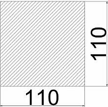 Bodenplatte Stahl grau Quadrat Kaminofen/Holzofen Hitzebeständig einbrennlackiert Senotherm