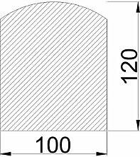 Bodenplatte Stahl grau Segmentbogen Kaminofen/Holzofen Hitzebeständig einbrennlackiert Senotherm