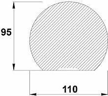 Bodenplatte Stahl schwarz Kreisabschnitt Kaminofen/Holzofen Hitzebeständig einbrennlackiert Senotherm