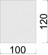 Bodenplatte Stahl schwarz Rechteck Kaminofen/Holzofen Hitzebeständig einbrennlackiert Senotherm