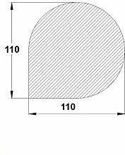 Bodenplatte Stahl schwarz Tropfen klein 1100x1100x2 mm Kaminofen/Holzofen Hitzebeständig einbrennlackiert Senotherm