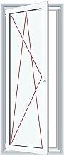 Bodentiefe Fenster Weiß - Dreh-Kipp Fenster -