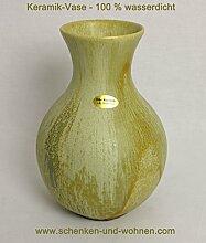Bodenvase Keramik 34 cm grün Echt Handarbei