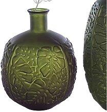 Bodenvase LEAVES Blätter H. 42cm D. 35cm grün