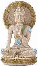 Bodhisattva Statue aus natürlichem Sandstein,