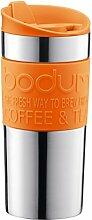 Bodum 11068-948B-Y17 Travel Mug (Edelstahl, 9,5 x 8,2 x 18,5 cm) orange