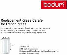 Bodum 2 X 1508-10 Ersatzglas für Kaffeebereiter