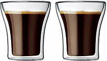 Bodum ASSAM 2-teiliges Kaffeeglas-Set