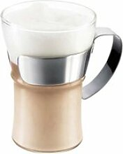 Bodum - Assam Kaffeeglas mit Edelstahlgriff