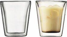 BODUM CANTEEN: 2 Stück Glas, doppelwandig, 0.2 l