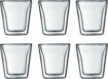 Bodum - Canteen Glas, doppelwandig, 0,1 l,