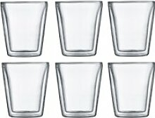Bodum - Canteen Glas, doppelwandig, 0,2 l,
