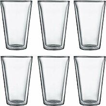 Bodum - Canteen Glas, doppelwandig, 0,4 l,