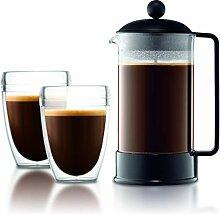 Bodum K1548-01-10 BRAZIL Kaffeebereiter, 8 Tassen,