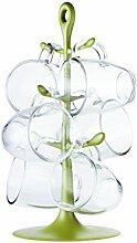 Bodum K2110-947-Y17 Becherbaum, Glas, olive Green, 19.98 x 18 x 36.5 cm