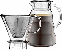 Bodum - Melior Kaffebereiter, Krug mit Permanentfilter, 1 l