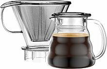 Bodum - Melior Kaffeebereiter, Krug mit Permanentfilter, 0.6 l